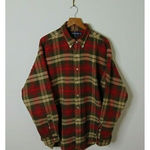 Ralph Lauren XL Blake Flannel Shirt Checkered Red